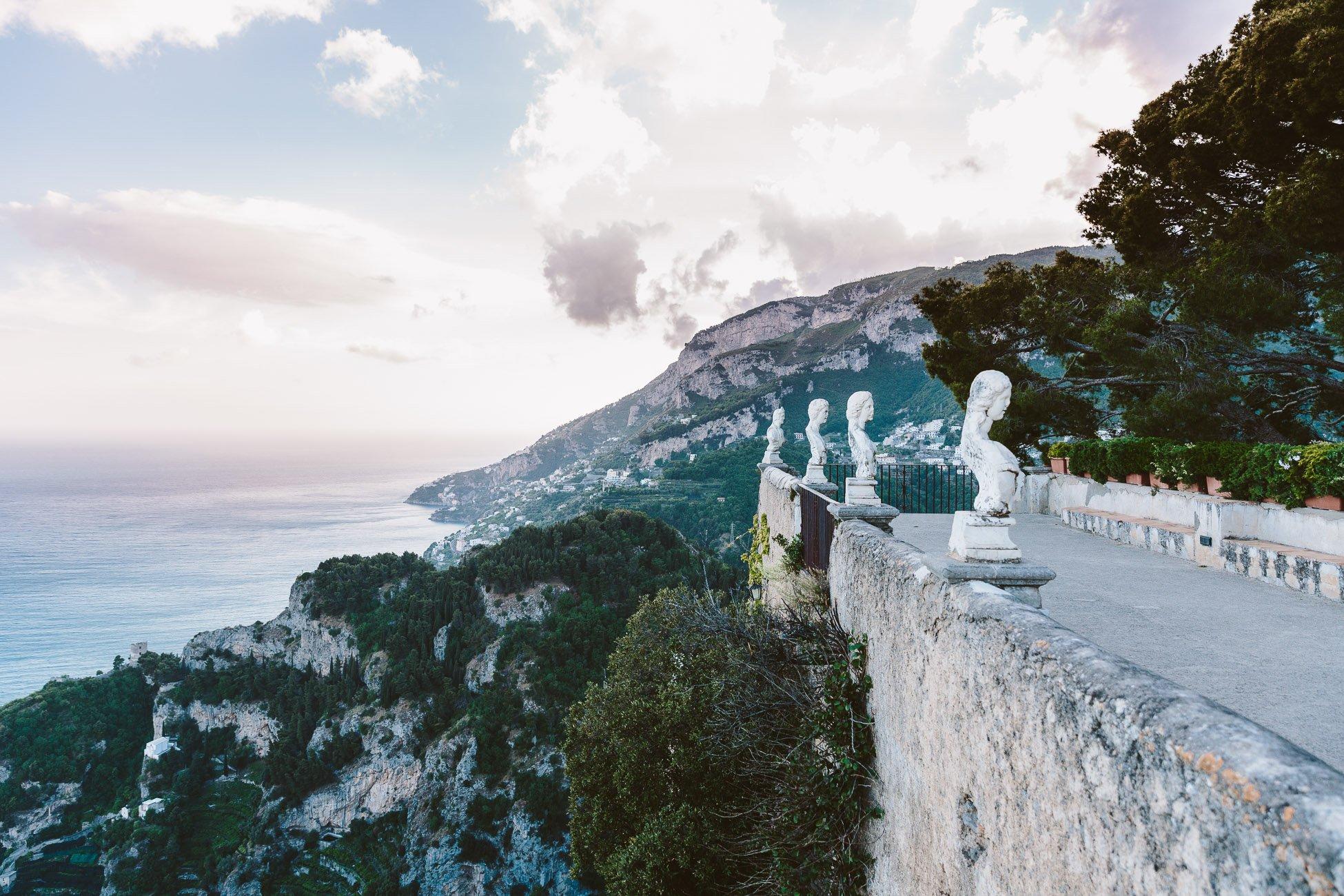 The famous balcony of Villa Cimbrone in Ravello