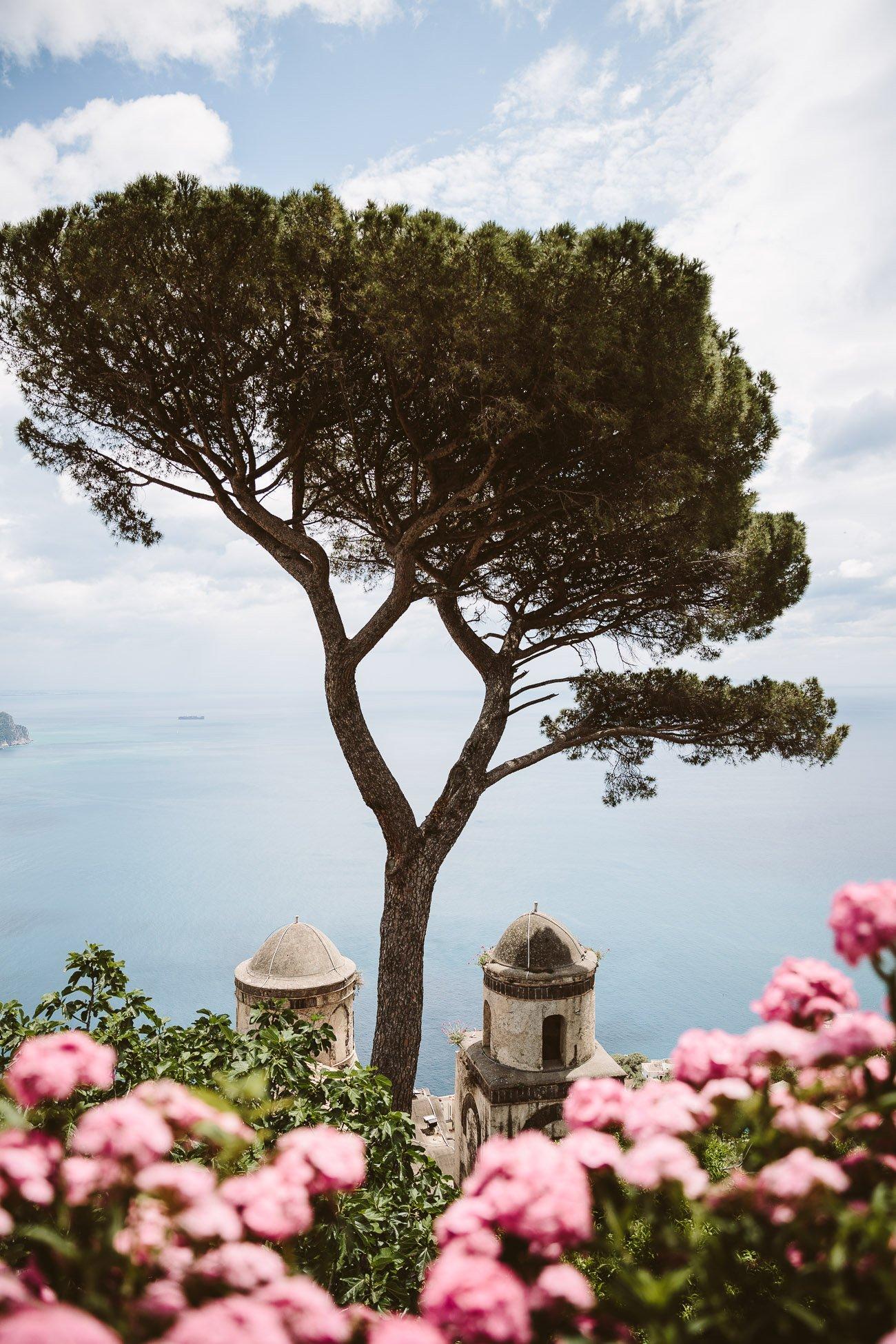 The view from Villa Rufolo in Ravello Amalfi Coast