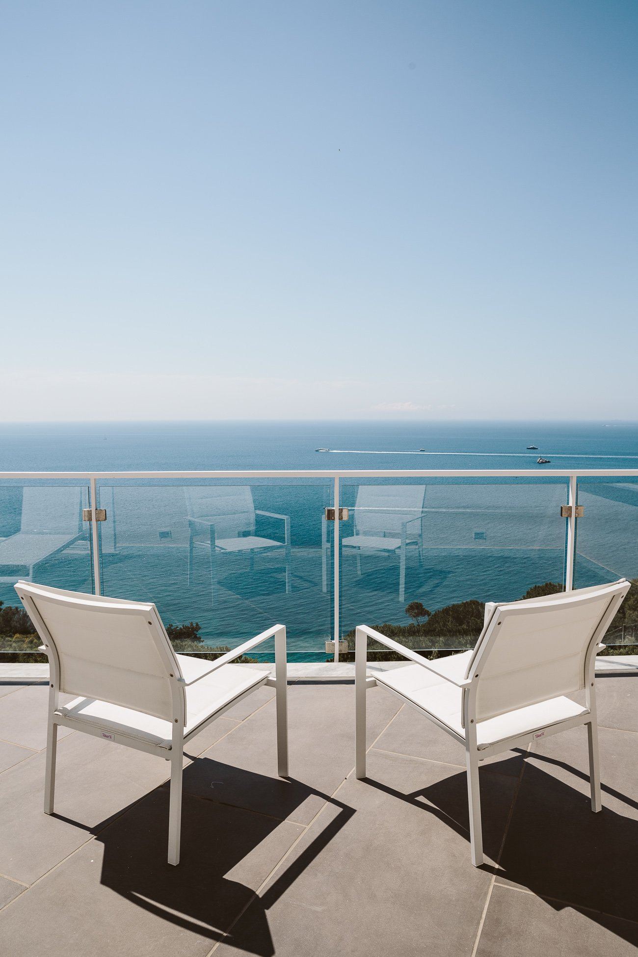 Terrace view at Art Hotel Villa Fiorella