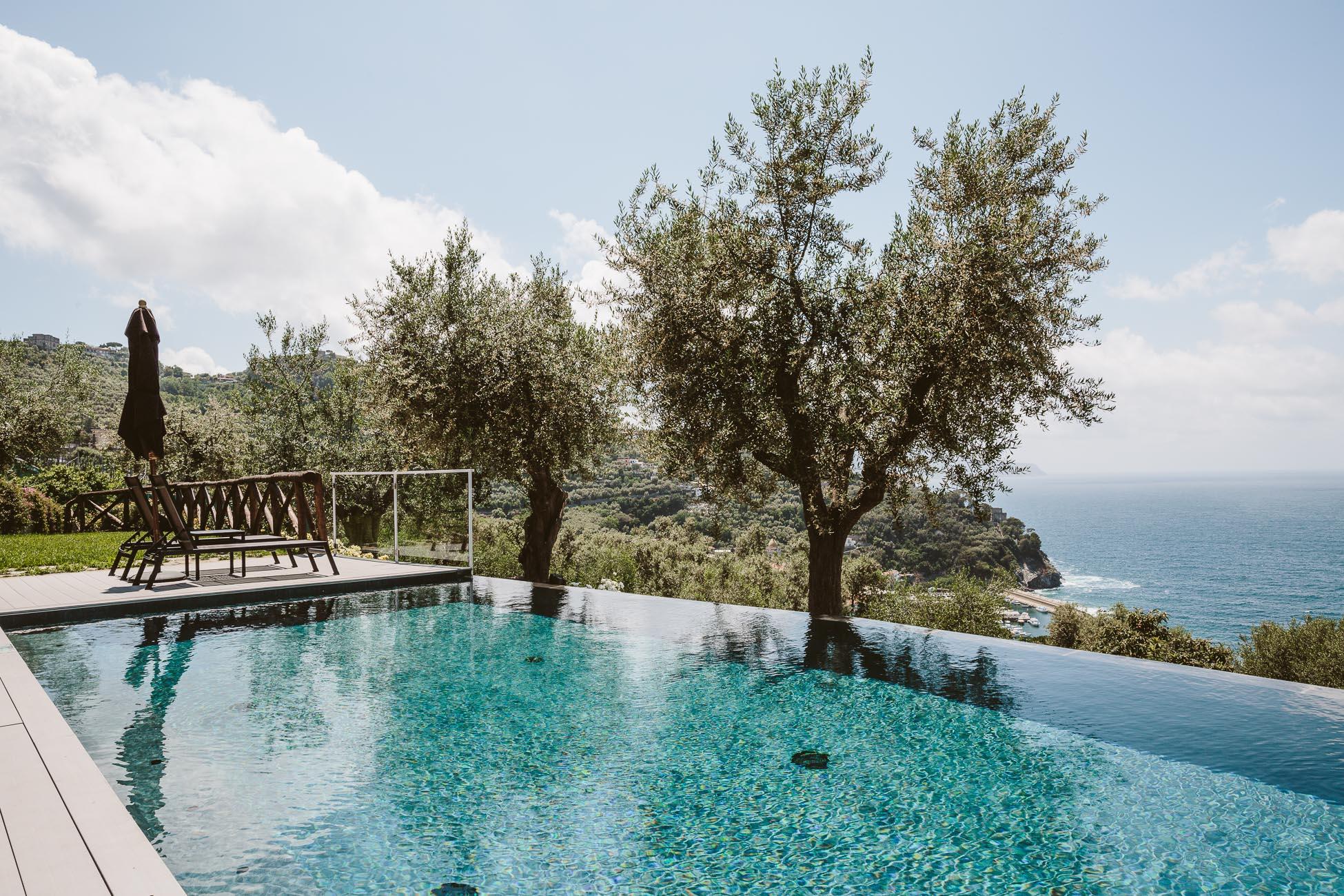 Infinity Pool at Art Hotel Villa Fiorella in Massa Lubrense