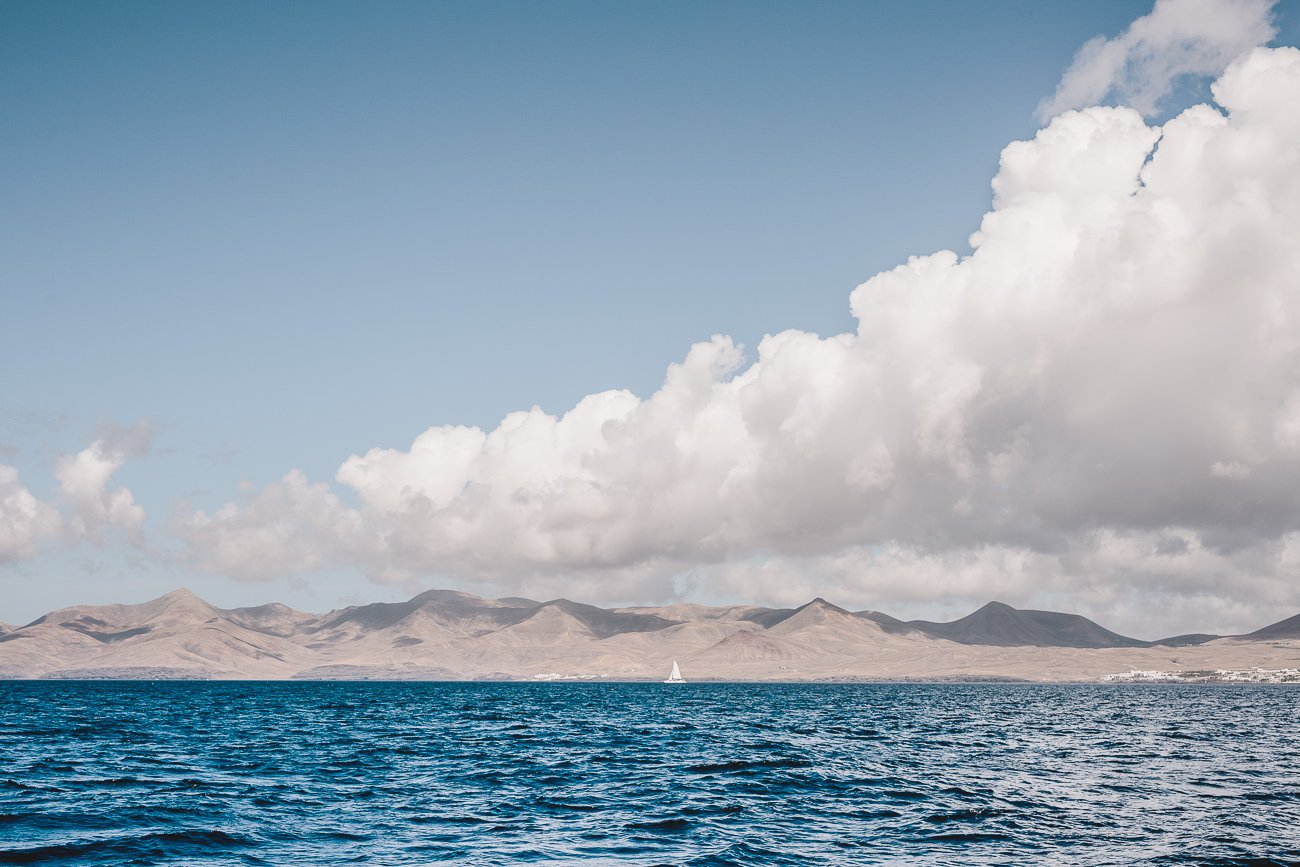 Views from the sailing ship of Lanzarote