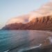 Sunset at Famara Beach in Lanzarote