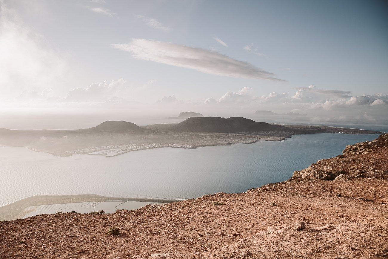 View of La Graciosa Island from the north of Lanzarote