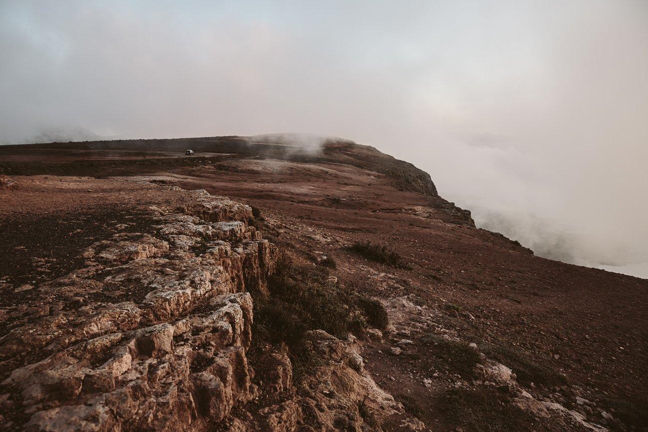 The cliffs south of Mirador del Rio