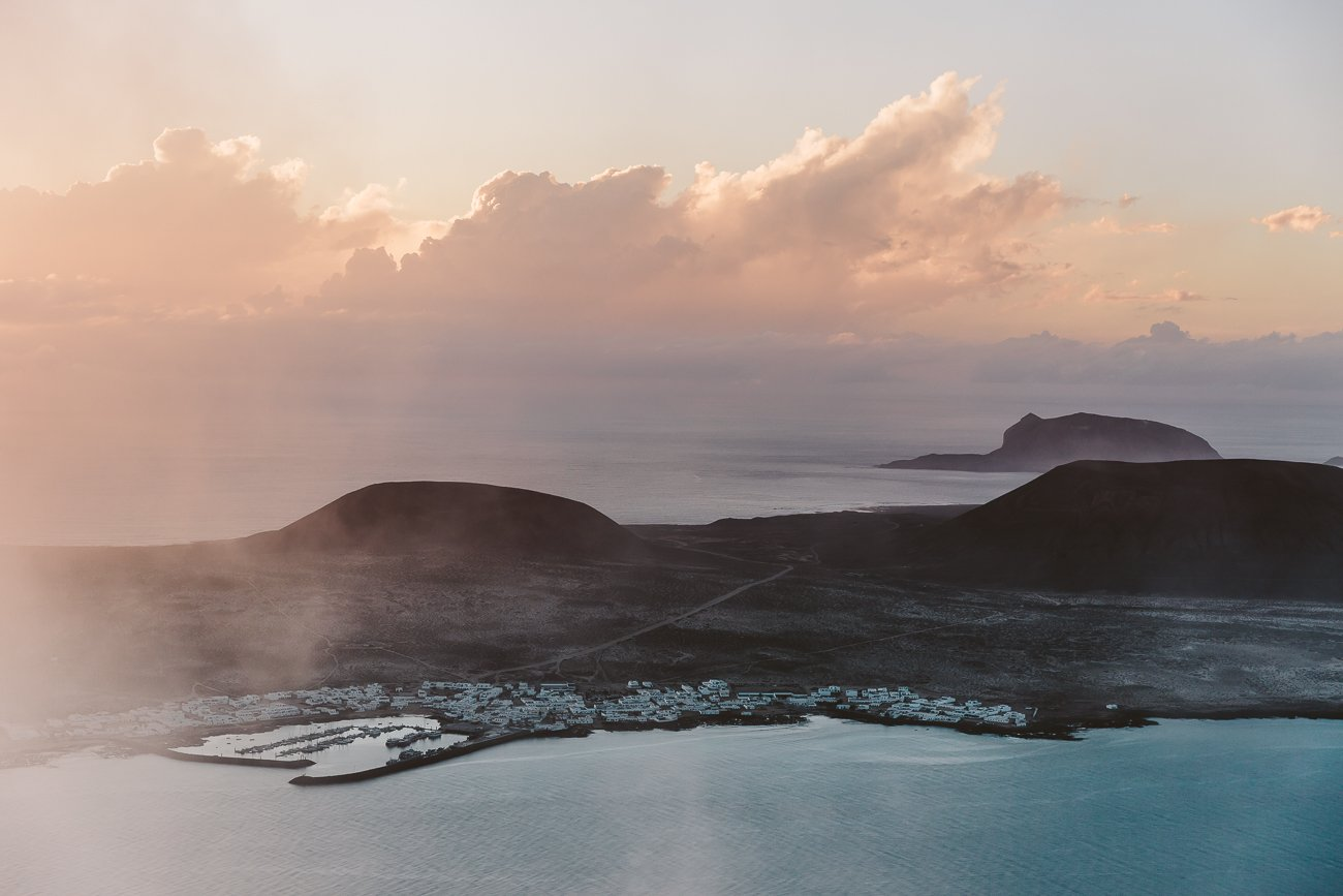 Sunset over La Graciosa as seen from Lanzarote
