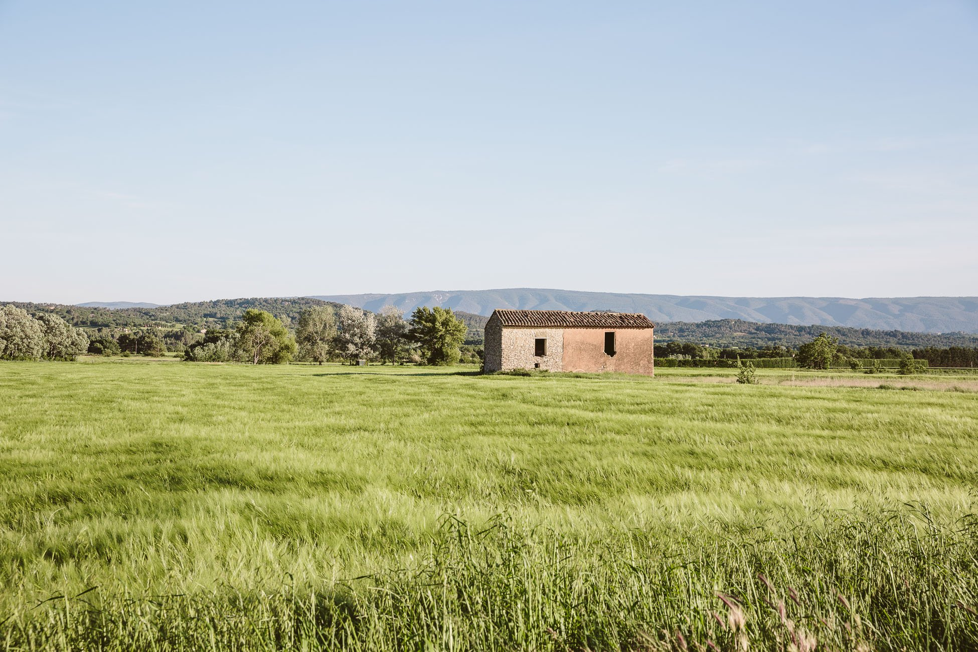 The fields of the Luberon at Provence