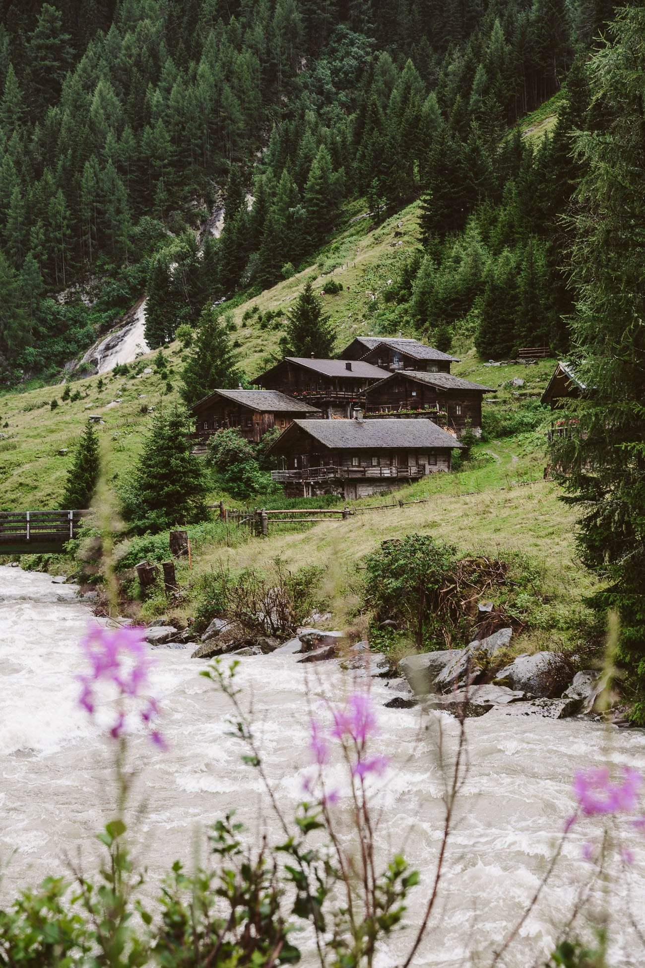 Alpine huts close to Matrei in National Park Hohe Tauern