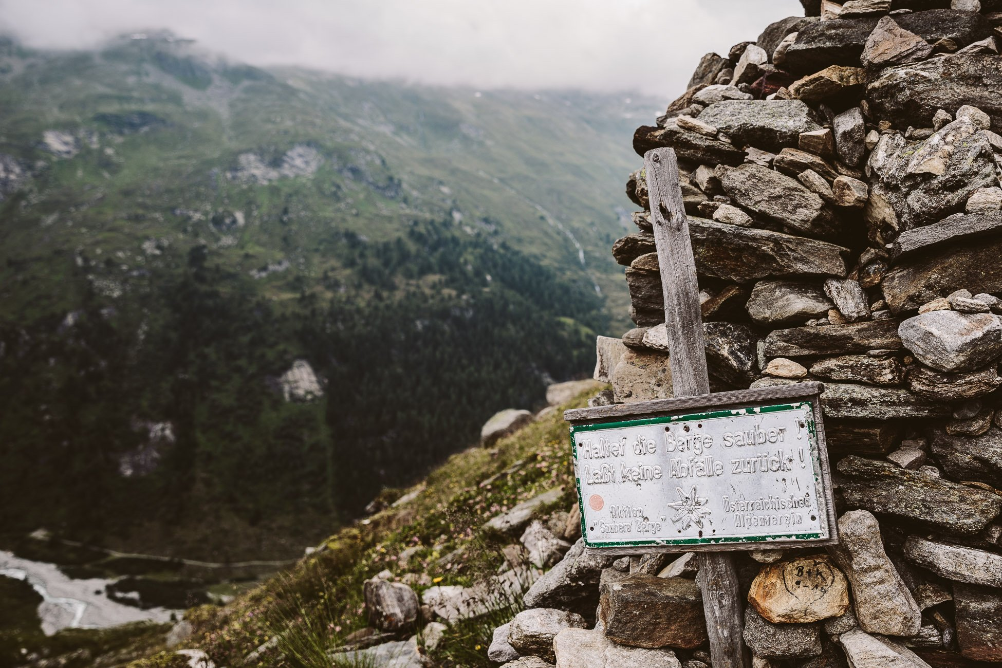 Sign at National Park Hohe Tauern