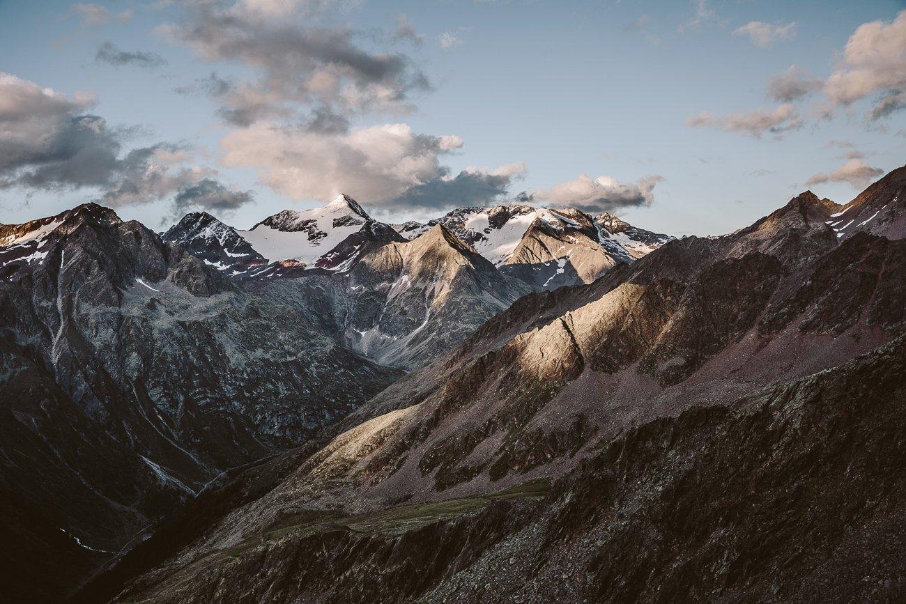 The view from Brunnenkogelhaus Oetztal Tyrol