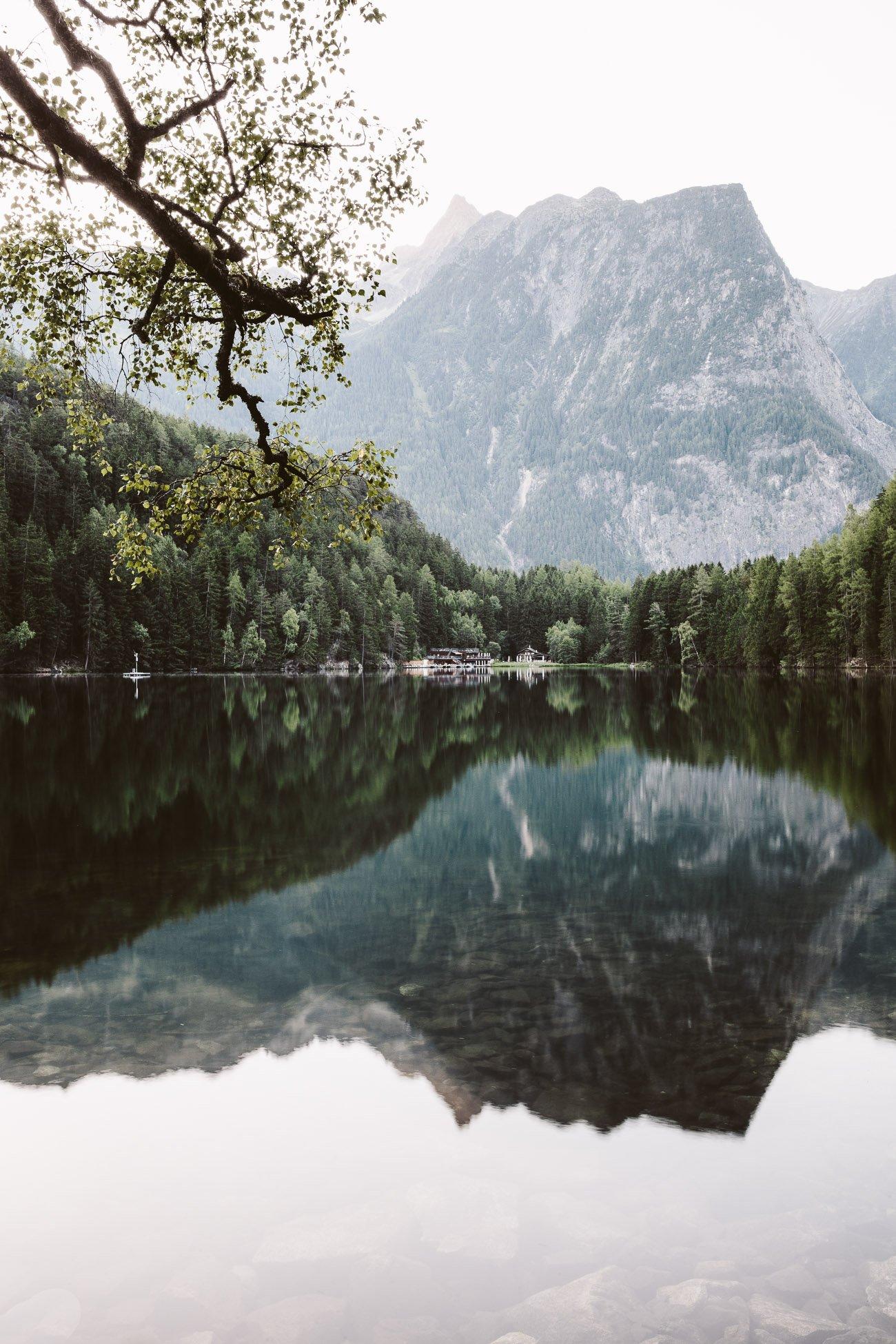 Lake Piburger See Oetztal Tyrol