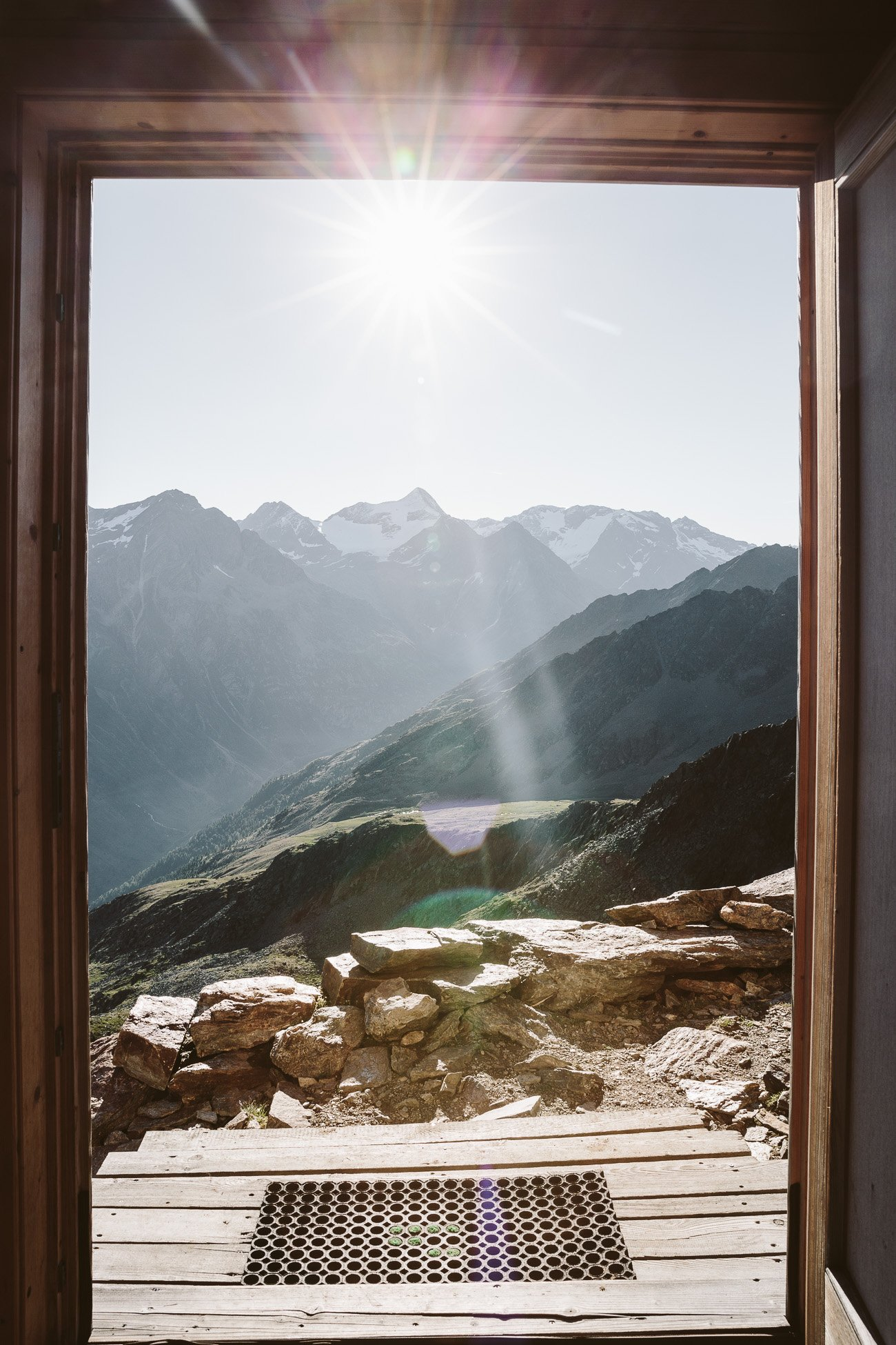 Morning view at Brunnenkogelhaus Oetztal Tyrol