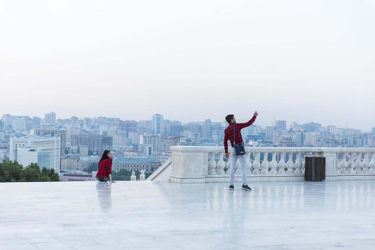 Selfie at Dağüstü Park Baku