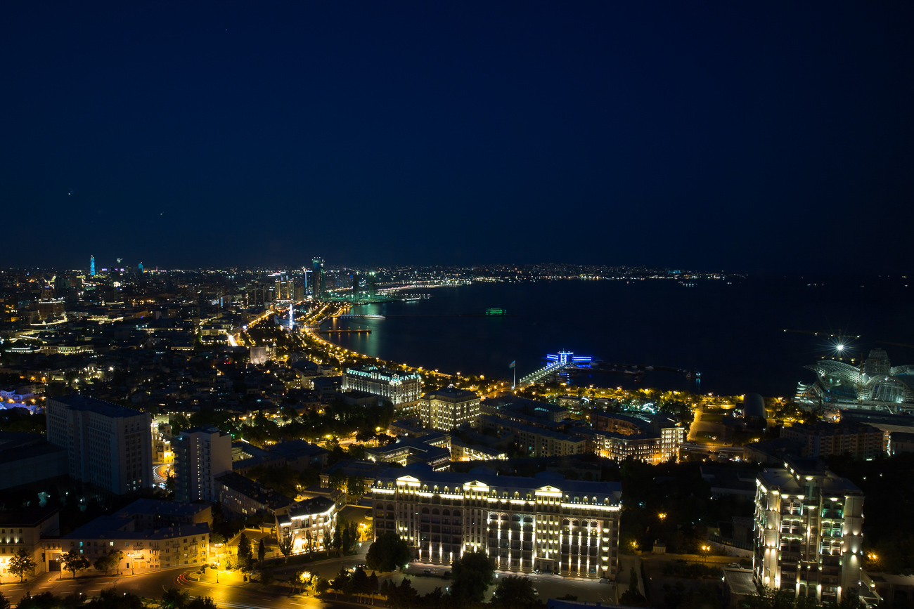 Night over Baku Azerbaijan