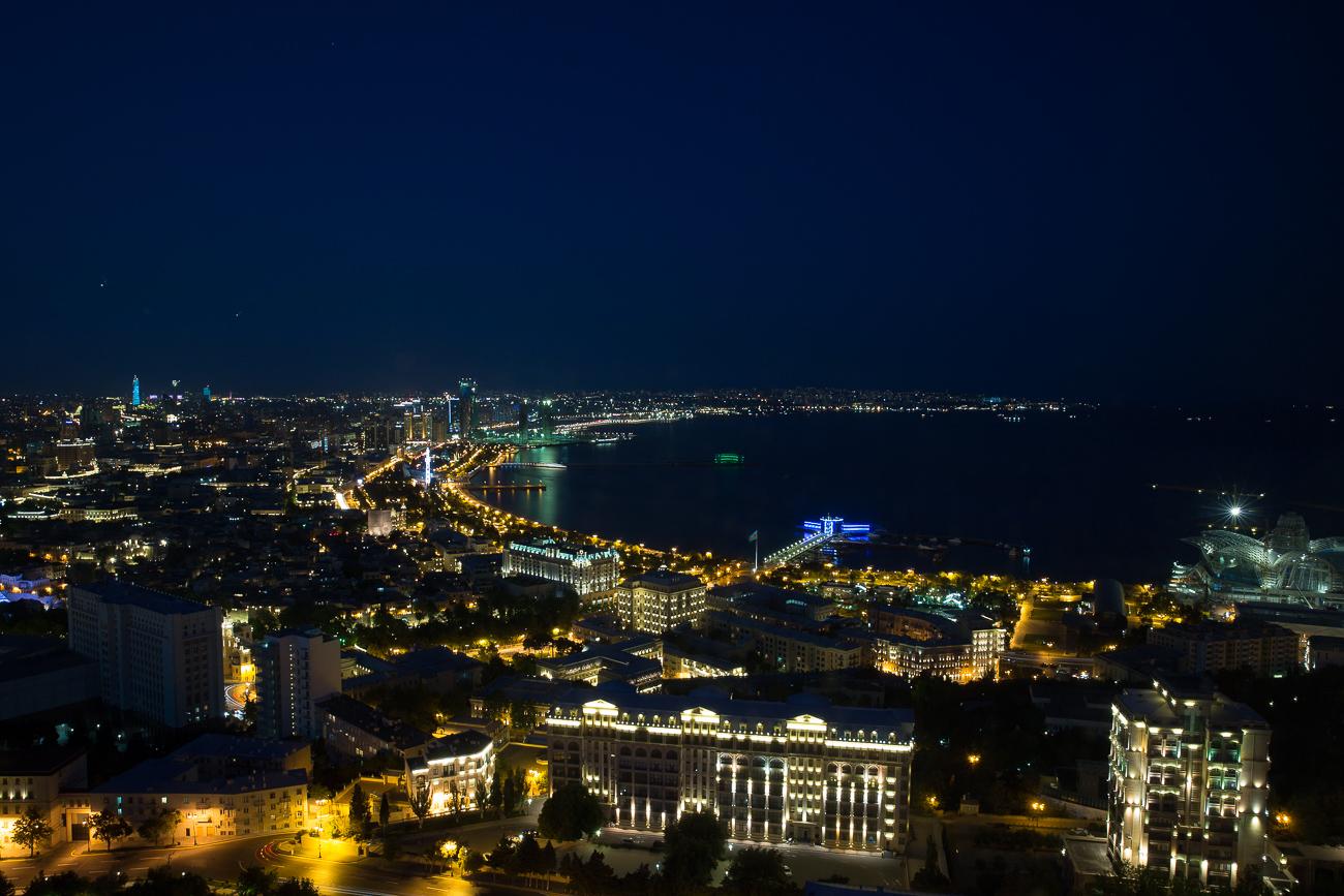 Night over Baku Azerbaijan