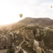 Sunrise as seen from a hot air balloon in Cappadocia