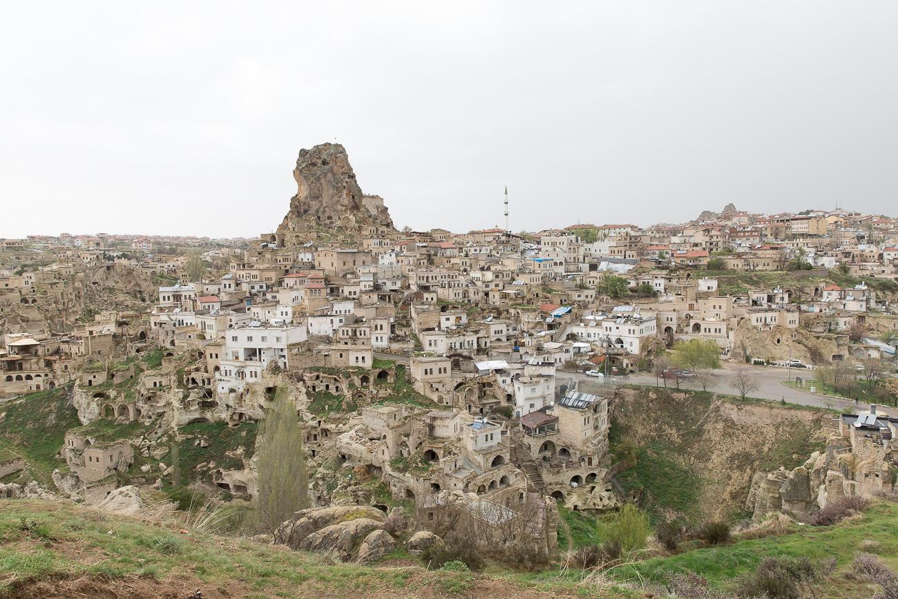 View of Ortahisar in Cappadocia
