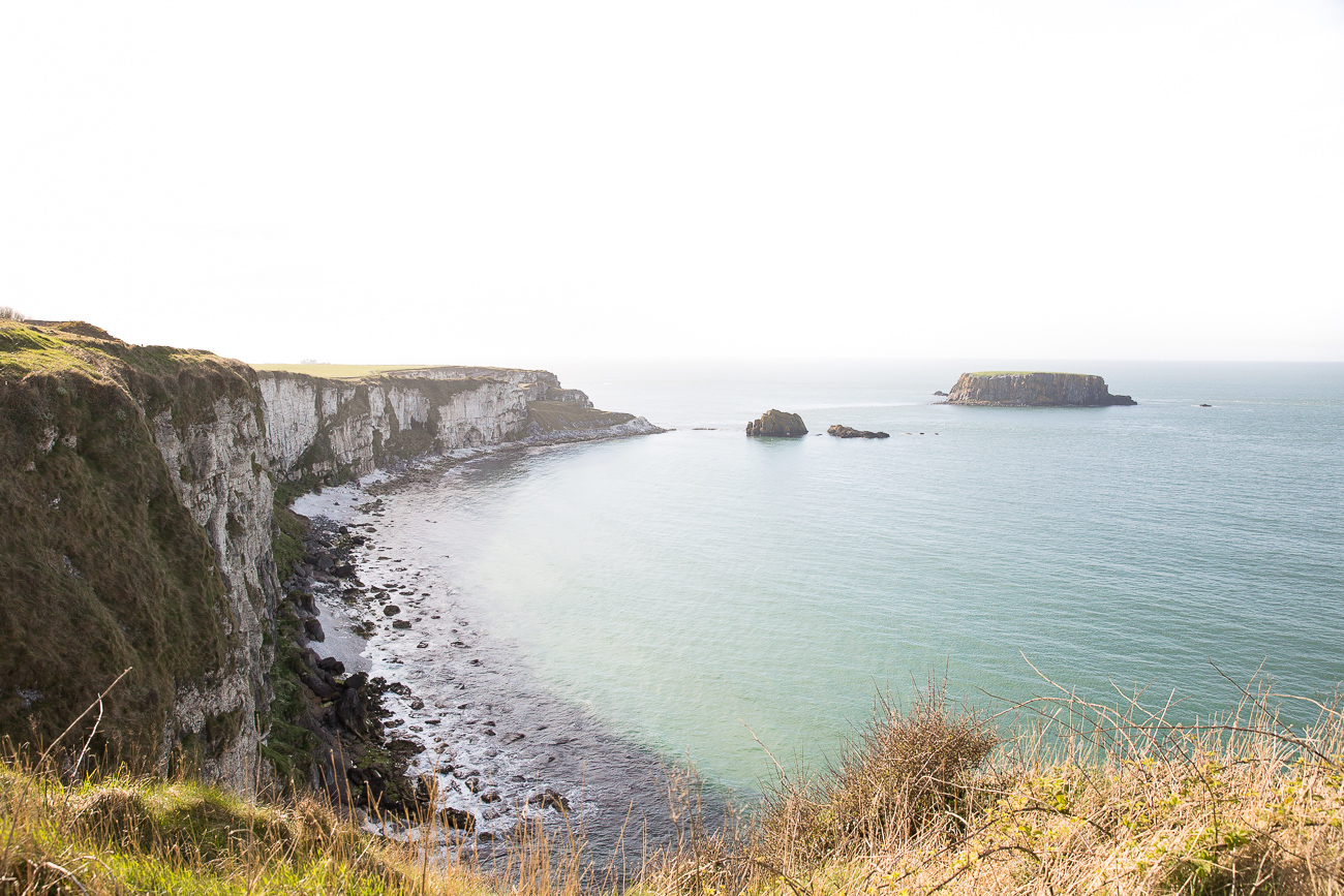 The coastline close to Carrick-a-Rede Rope Bridge