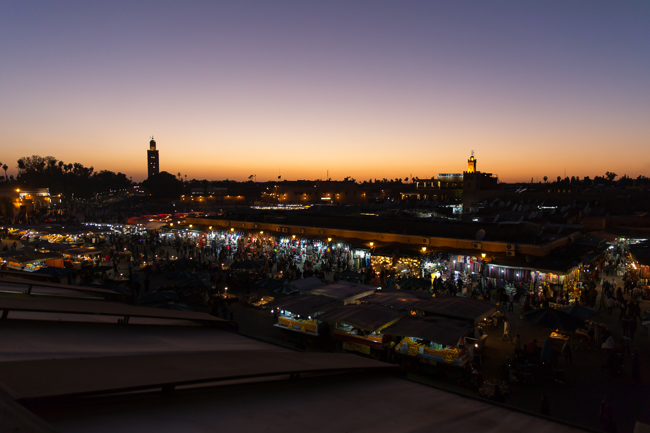 Sunset over Marrakechs Medina