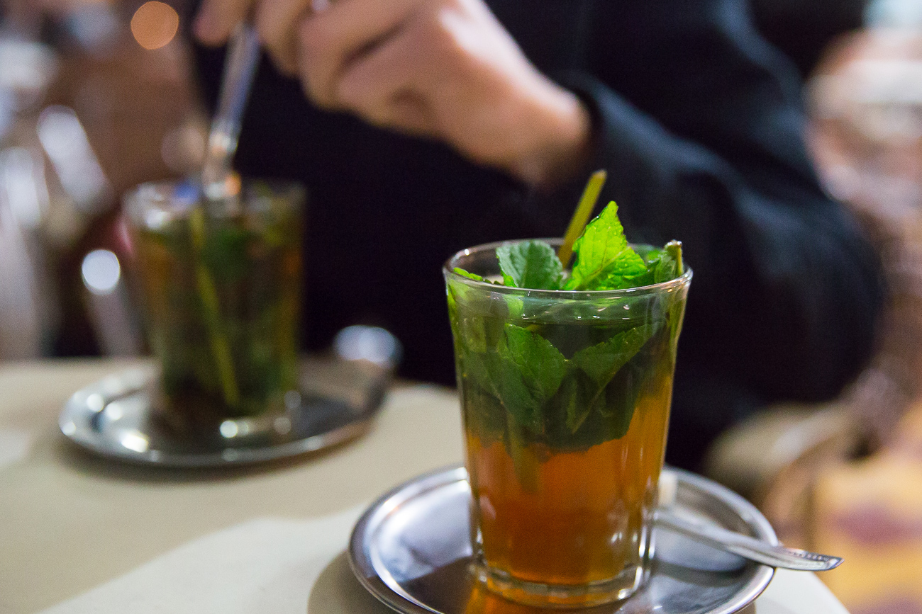 Mint Tea at Café de France Marrakech