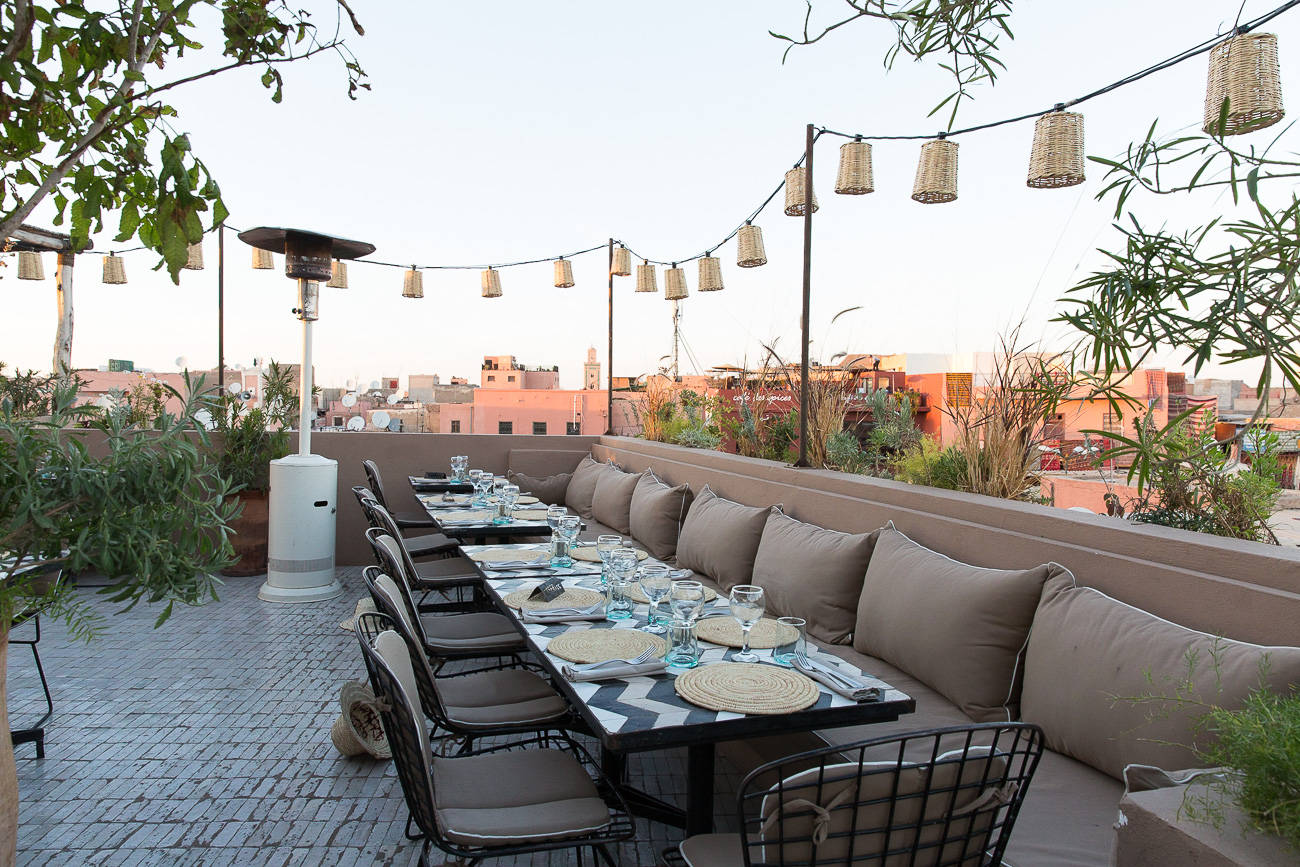 Rooftop of Nomad in Marrakech