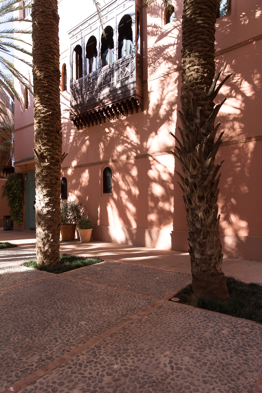 Courtyard of the Royal Mansour Hotel Marrakech