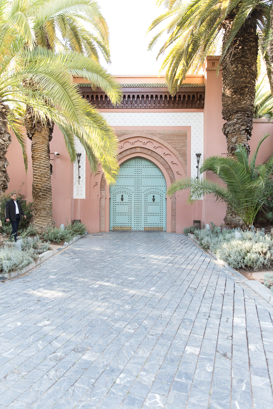 Gate of Royal Mansour Hotel Marrakech, Morocco