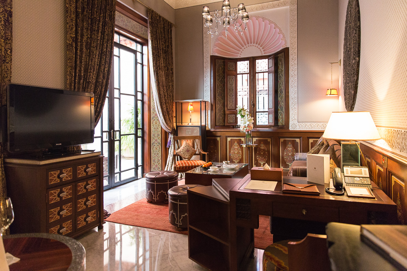 Your private living room in the Riad of Hotel Royal Mansour