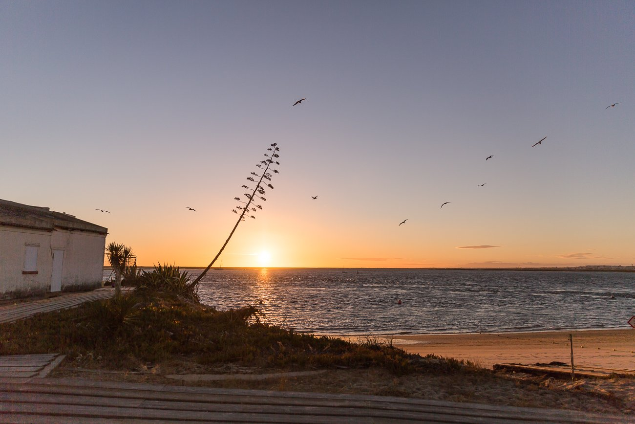 Sunset at Ilha do Farol, Farol Island, Algarve