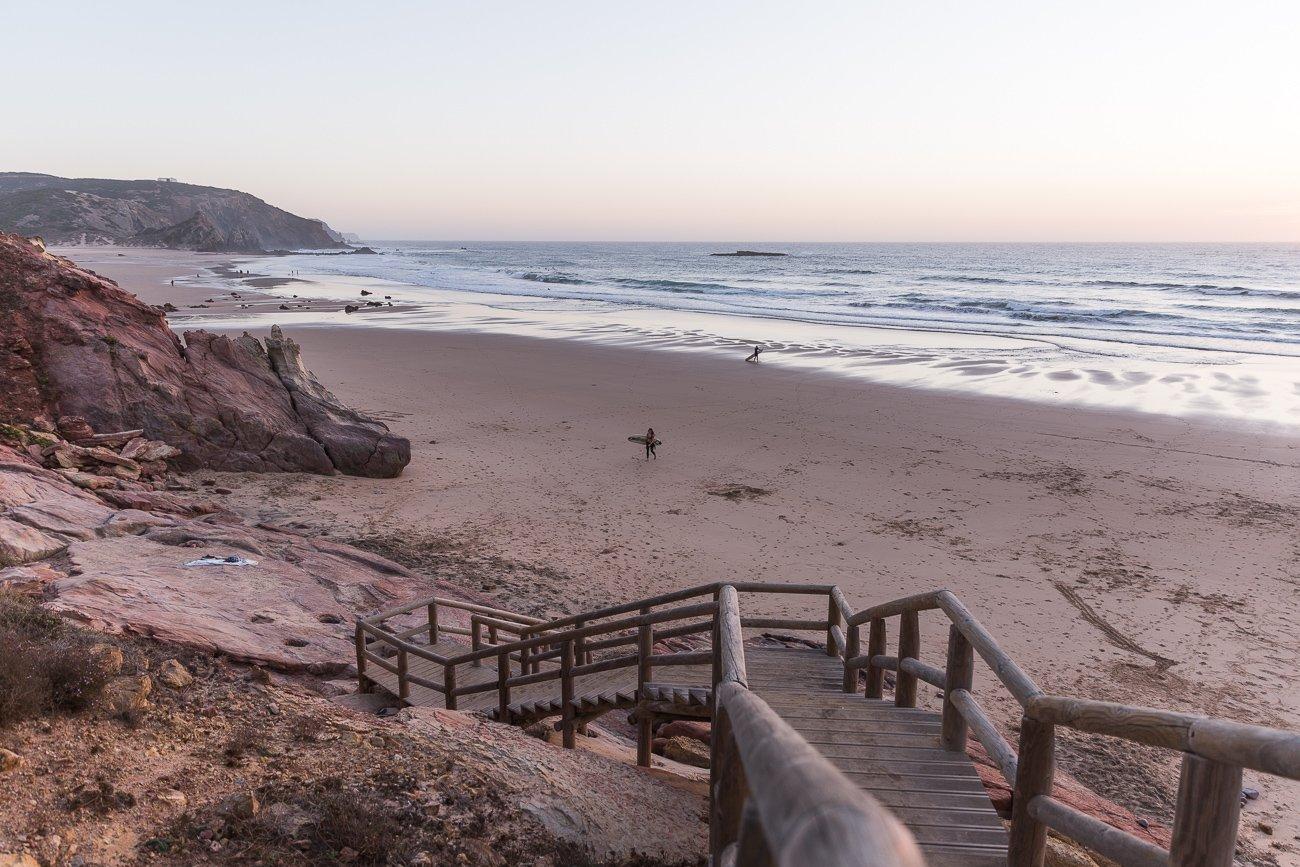 Praia do Amado after sunset
