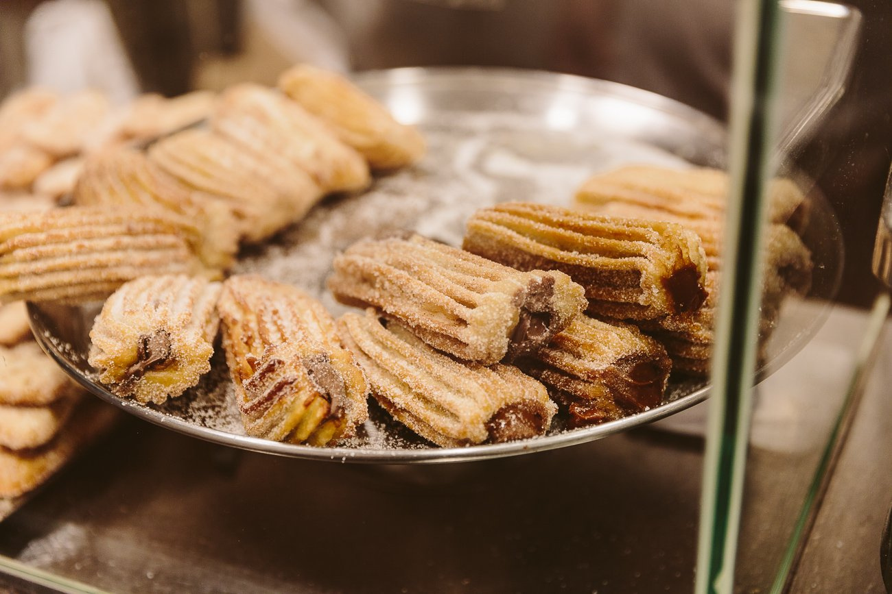 Churros filled with Dulce de Leche in Barcelona