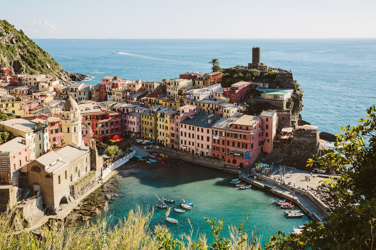 View of Vernazza from up in the hills, Cinque Terre