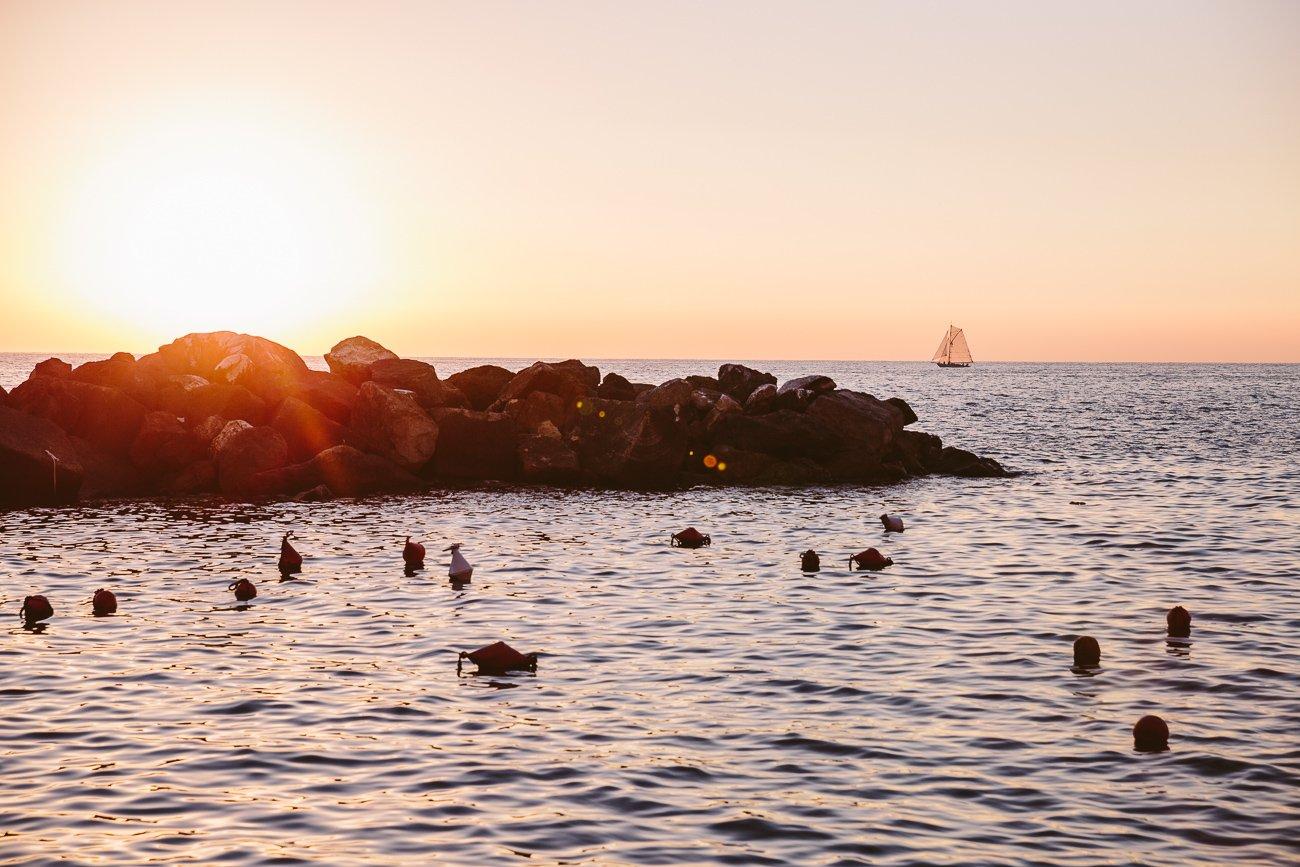 Sunset at Riomaggiore Cinque Terre