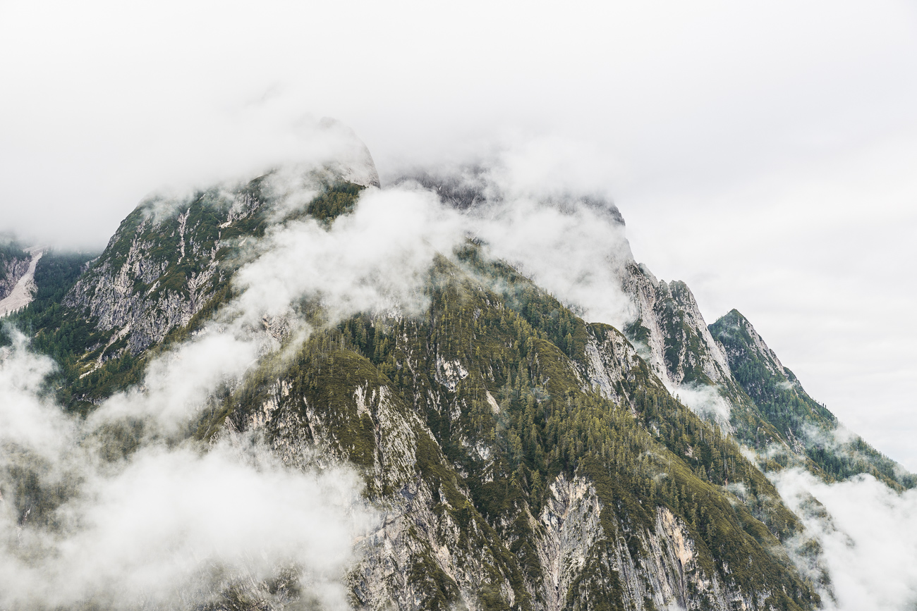 East Tyrol mountains in the clouds