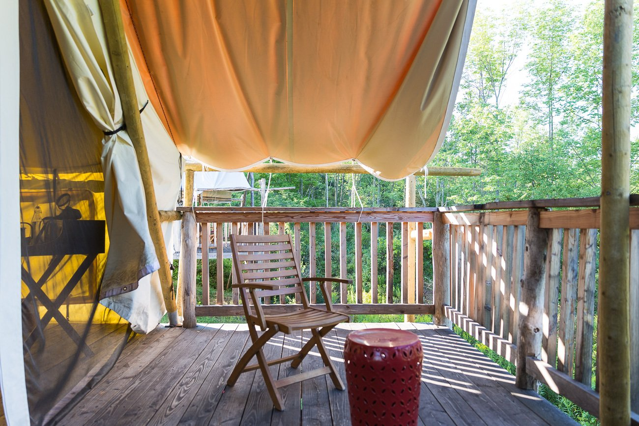 Glamping in Ithaca, New York State