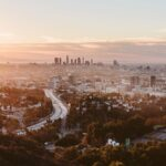 Lookout from Hollywood Hills on Los Angeles