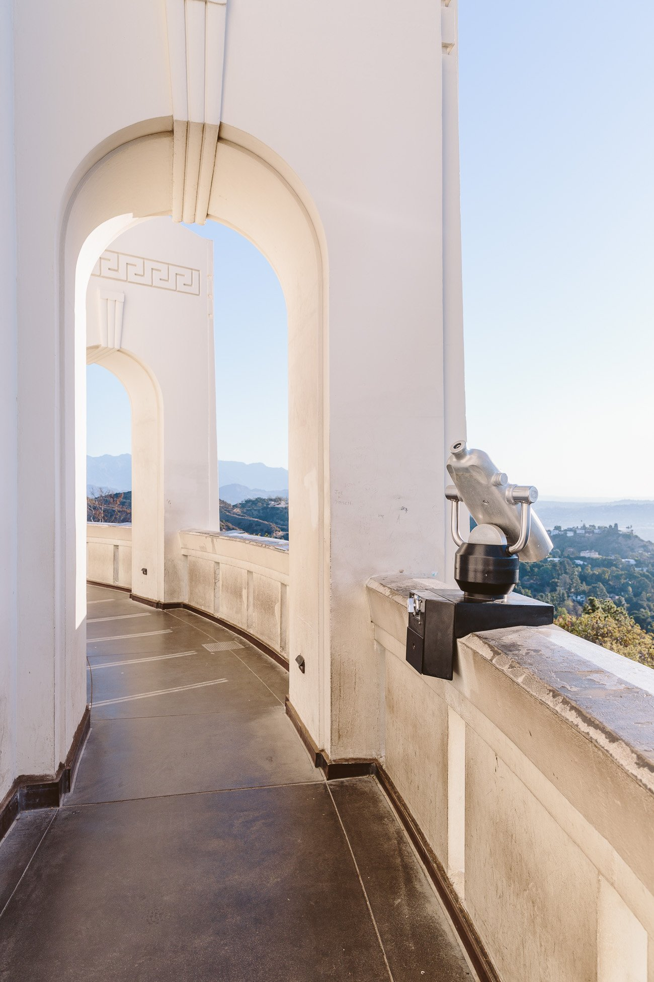 Griffith Observatory Los Angeles at sunrise