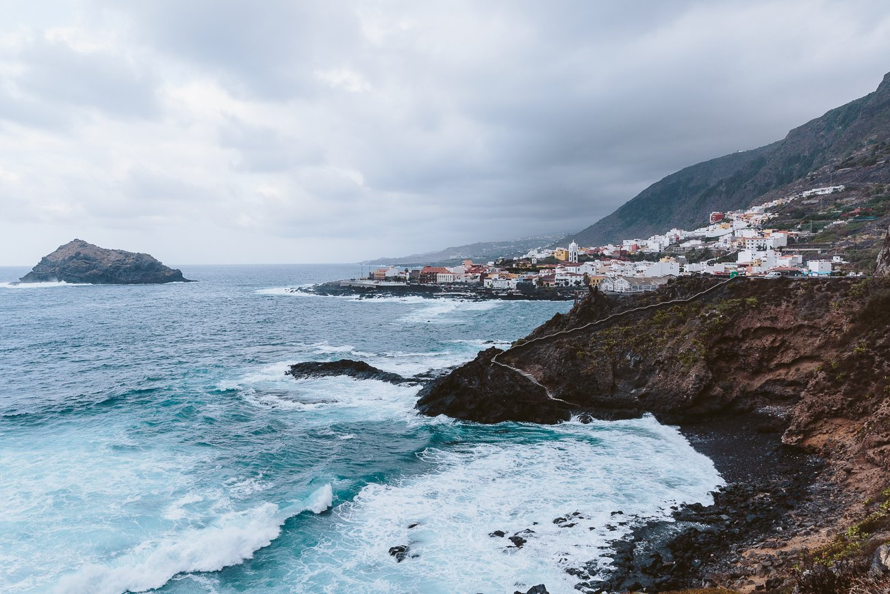 The northern coastline of Tenerife with a view of Garachico