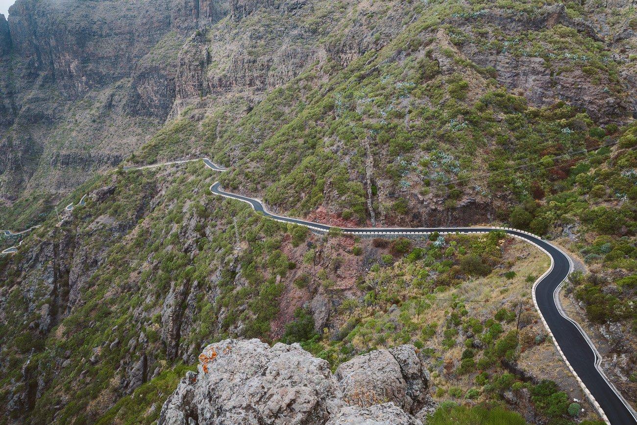Mountain roads in Tenerife