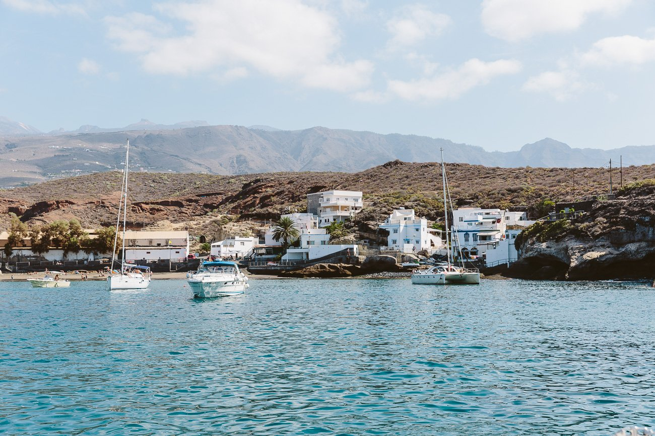 Sailing the coast of Adeje Tenerife