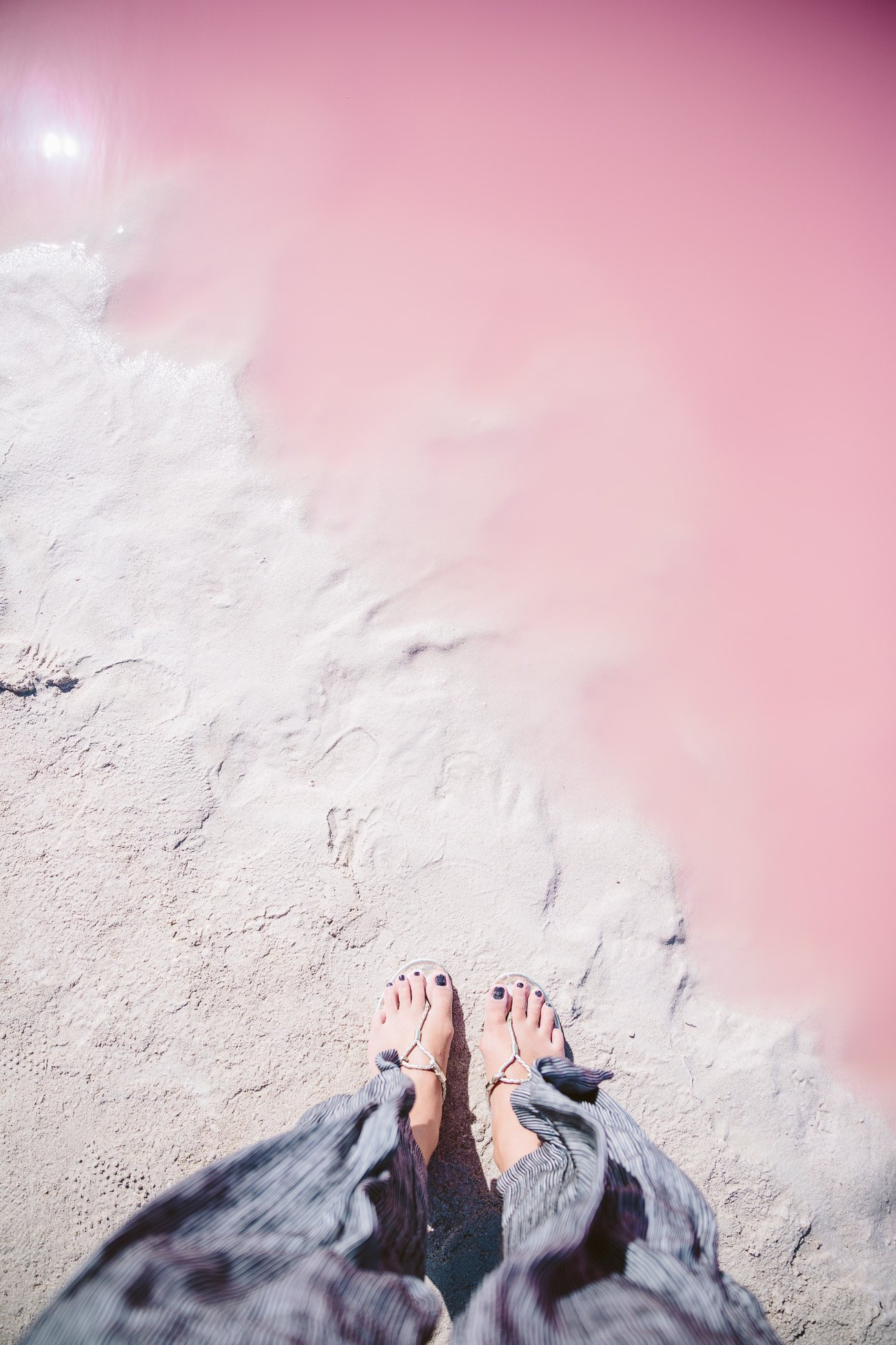 The Pink Lagoon at Las Coloradas, Yucatan