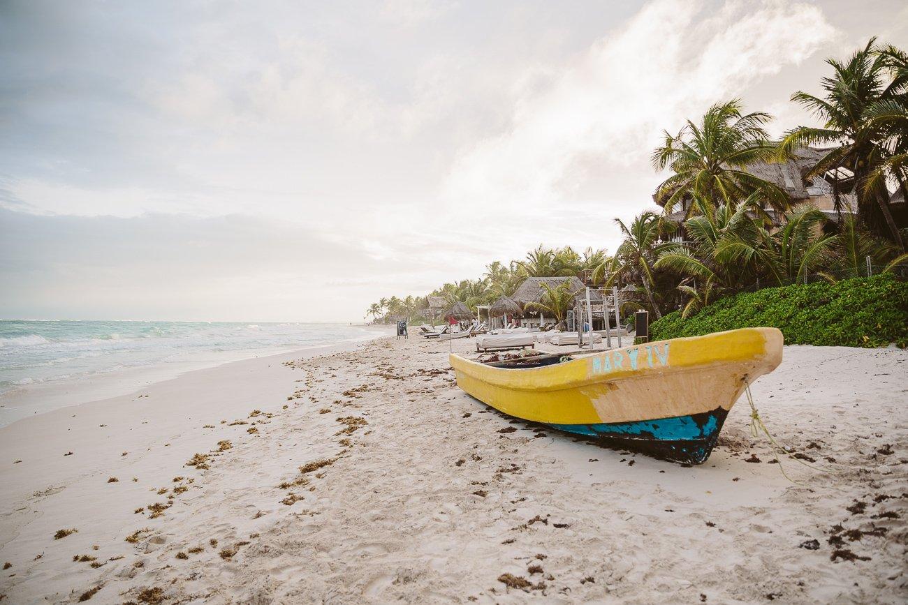 Beach in Tulum Mexico