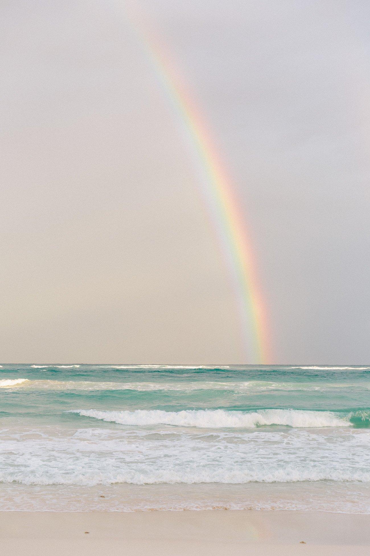 Rainbow in Tulum, Mexico