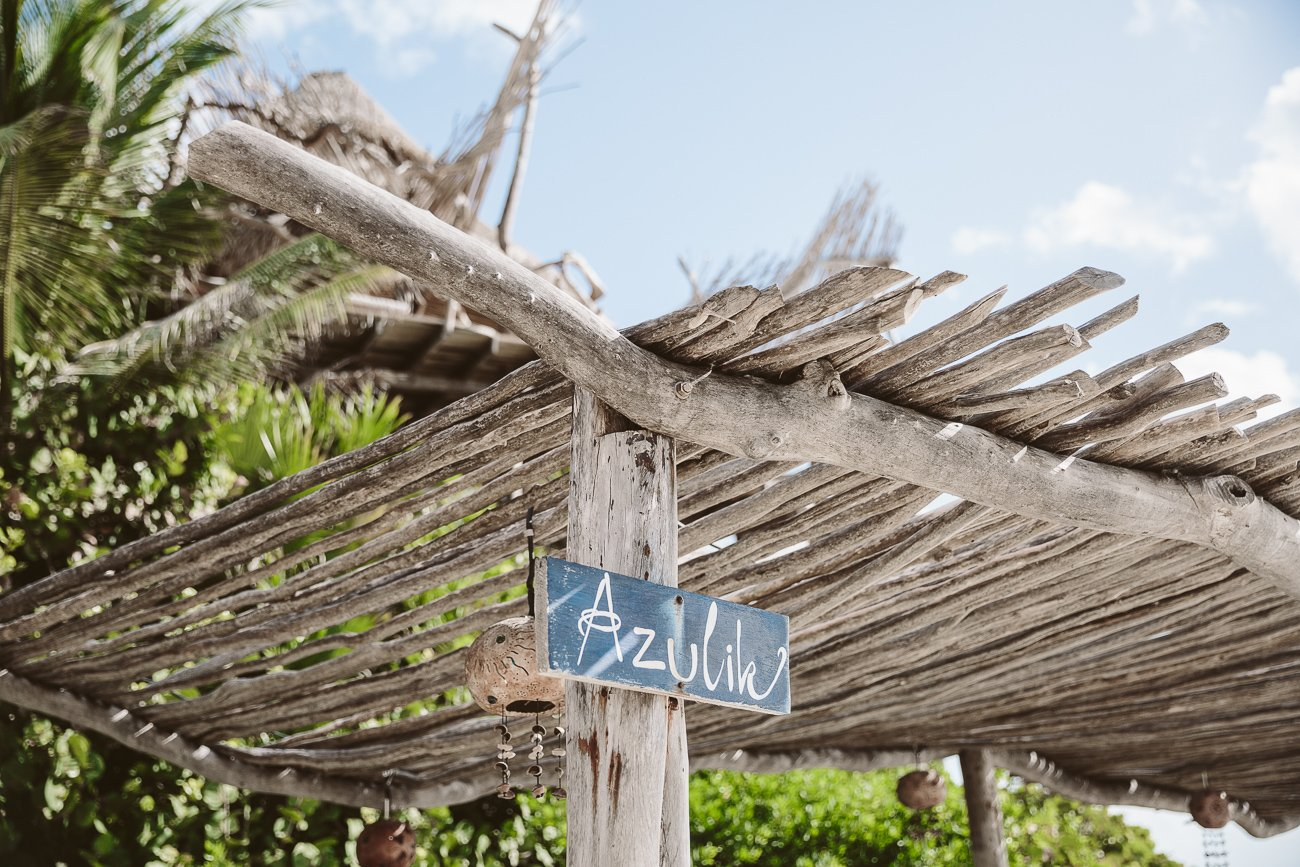 Azulik Resort Tulum beach bar