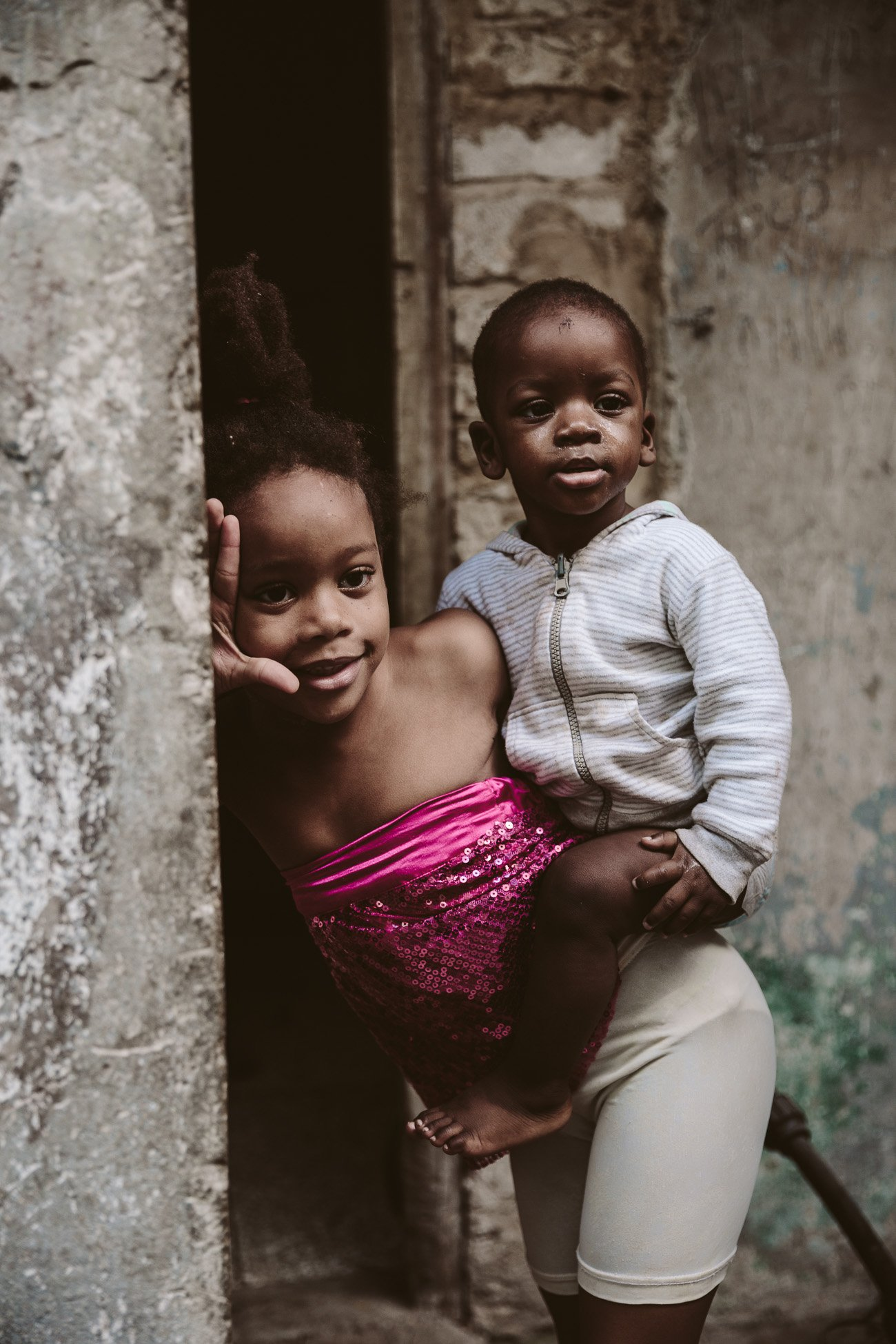 A girl and a boy in Havana Cuba