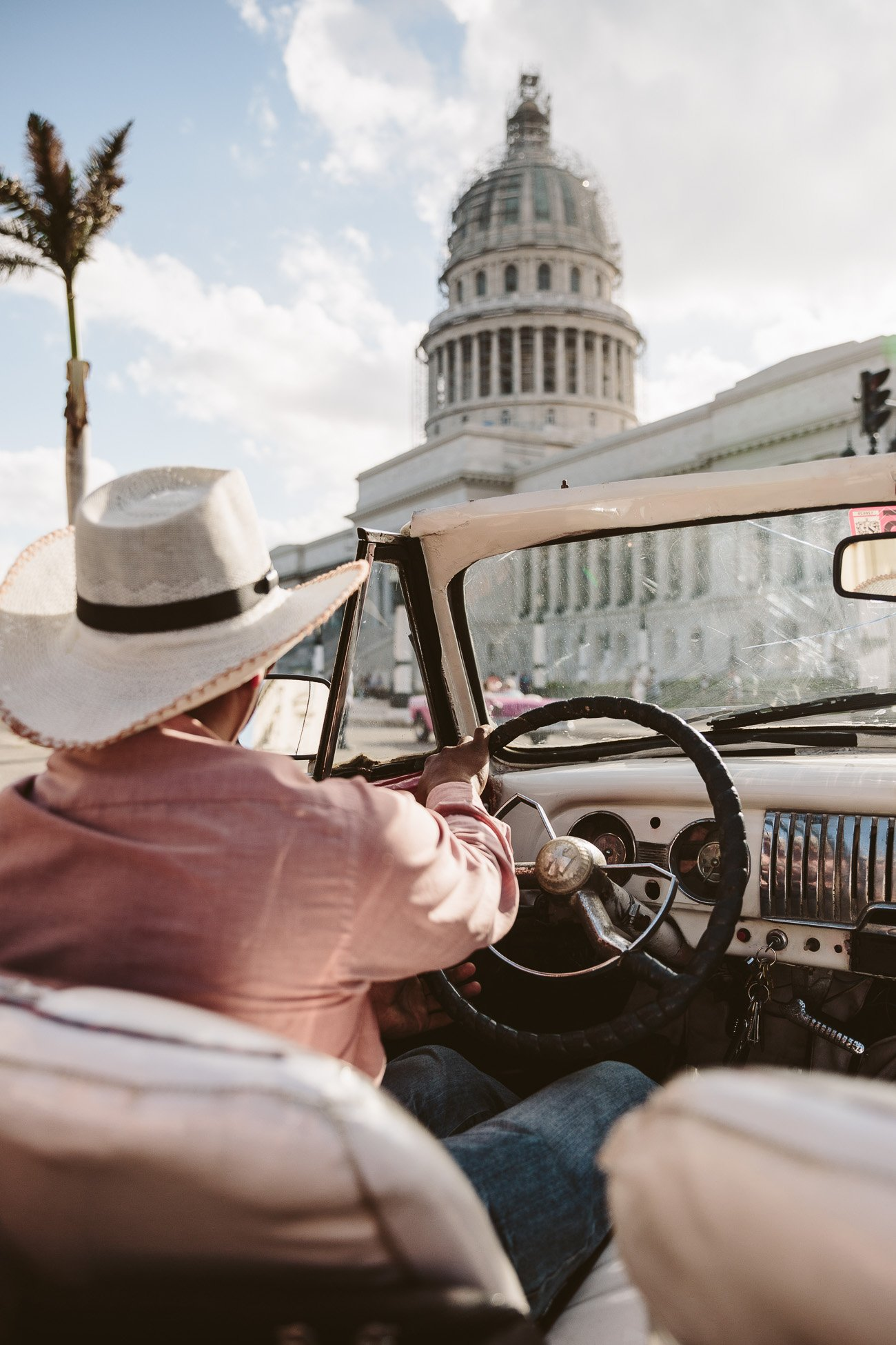 Vintage car tour through Havana Cuba