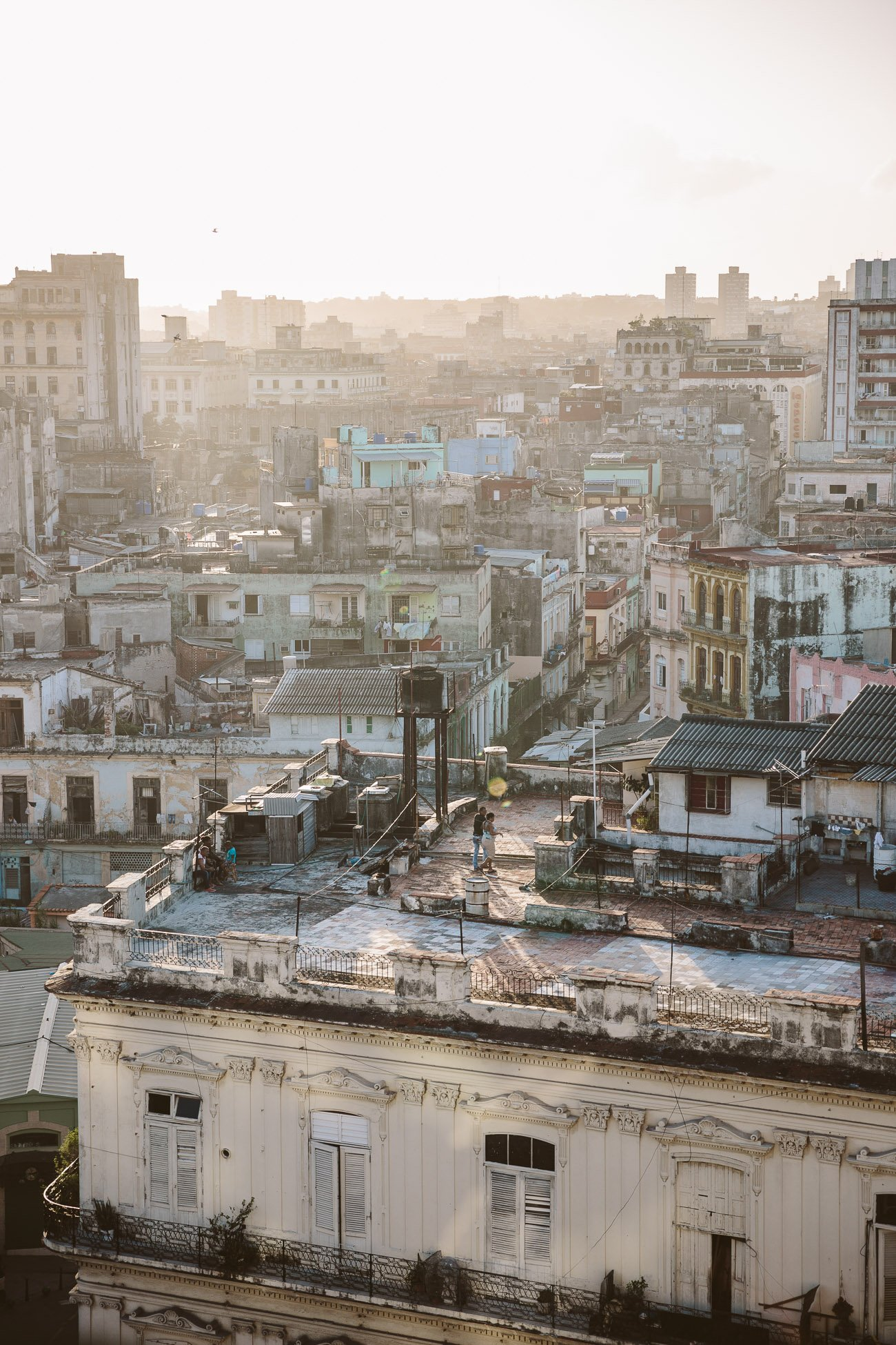 View of Centro Habana from the rooftop of Iberostar Hotel Parque Central Havana Cuba