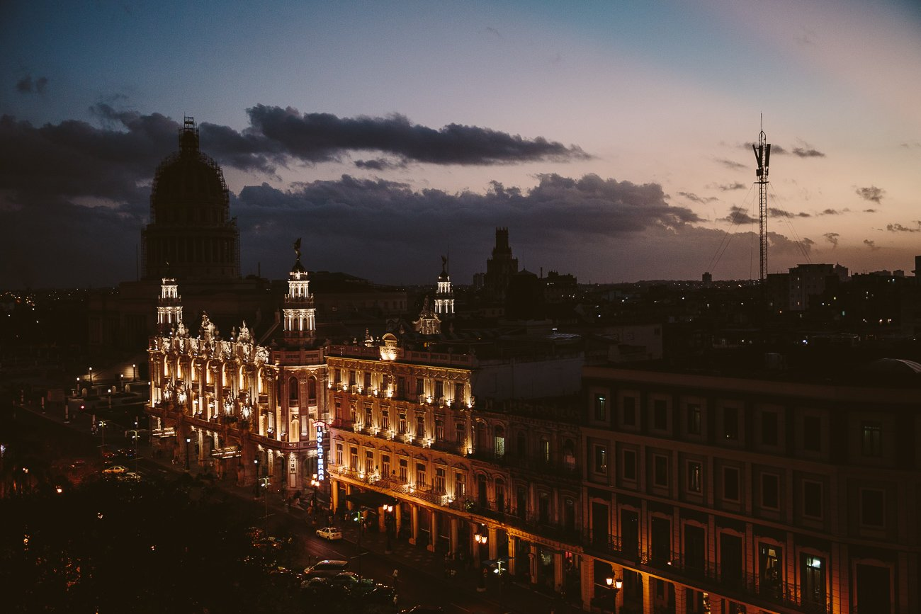Dawn from the rooftop of Iberostar Parque Central Havana
