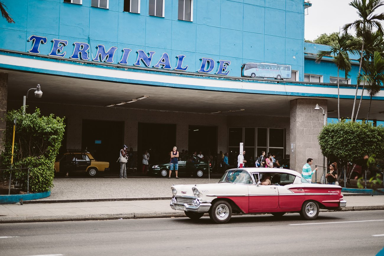 A Colectivo at the bus terminal in Havana Cuba