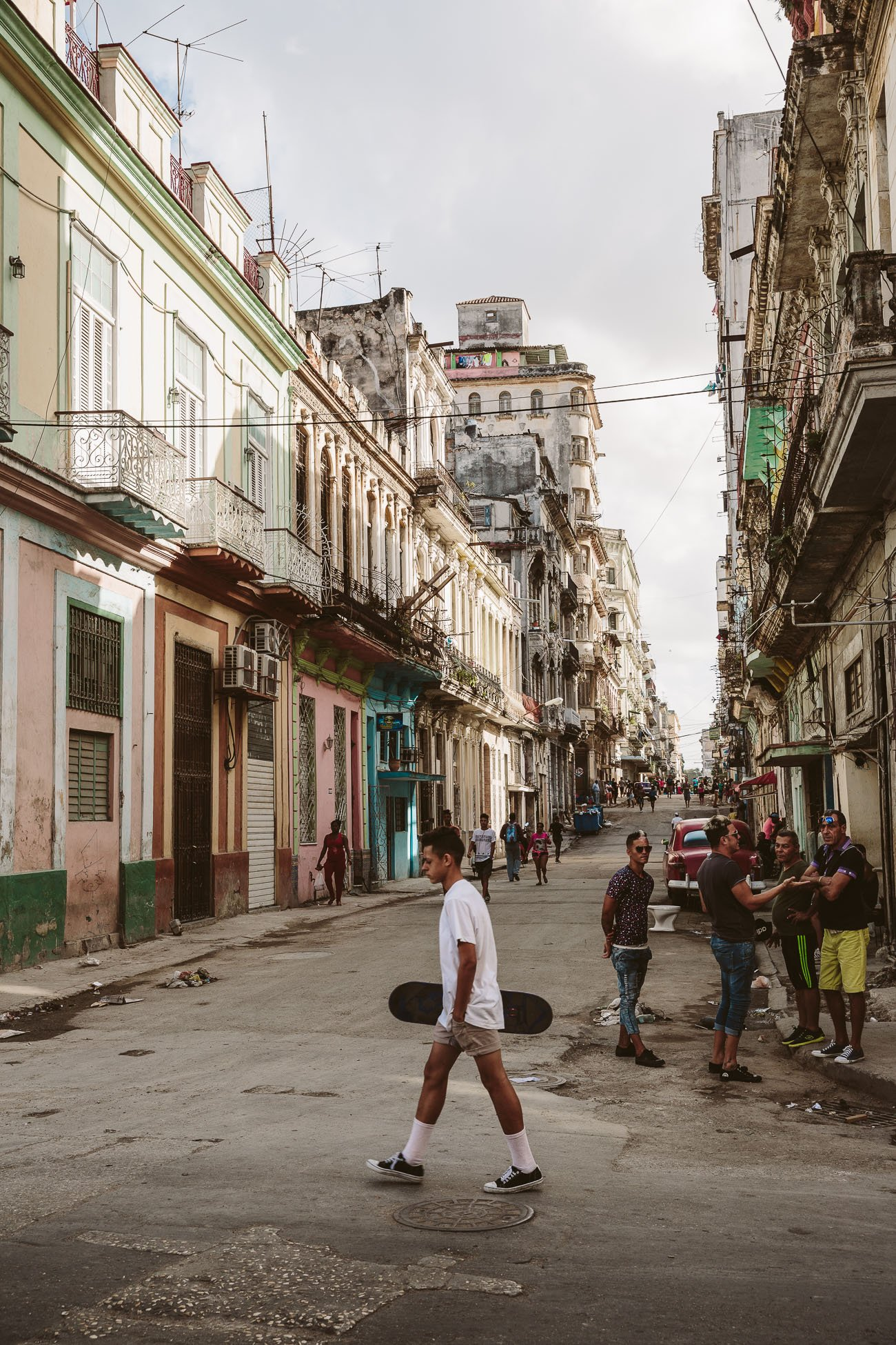 Centro Habana district in Havana Cuba