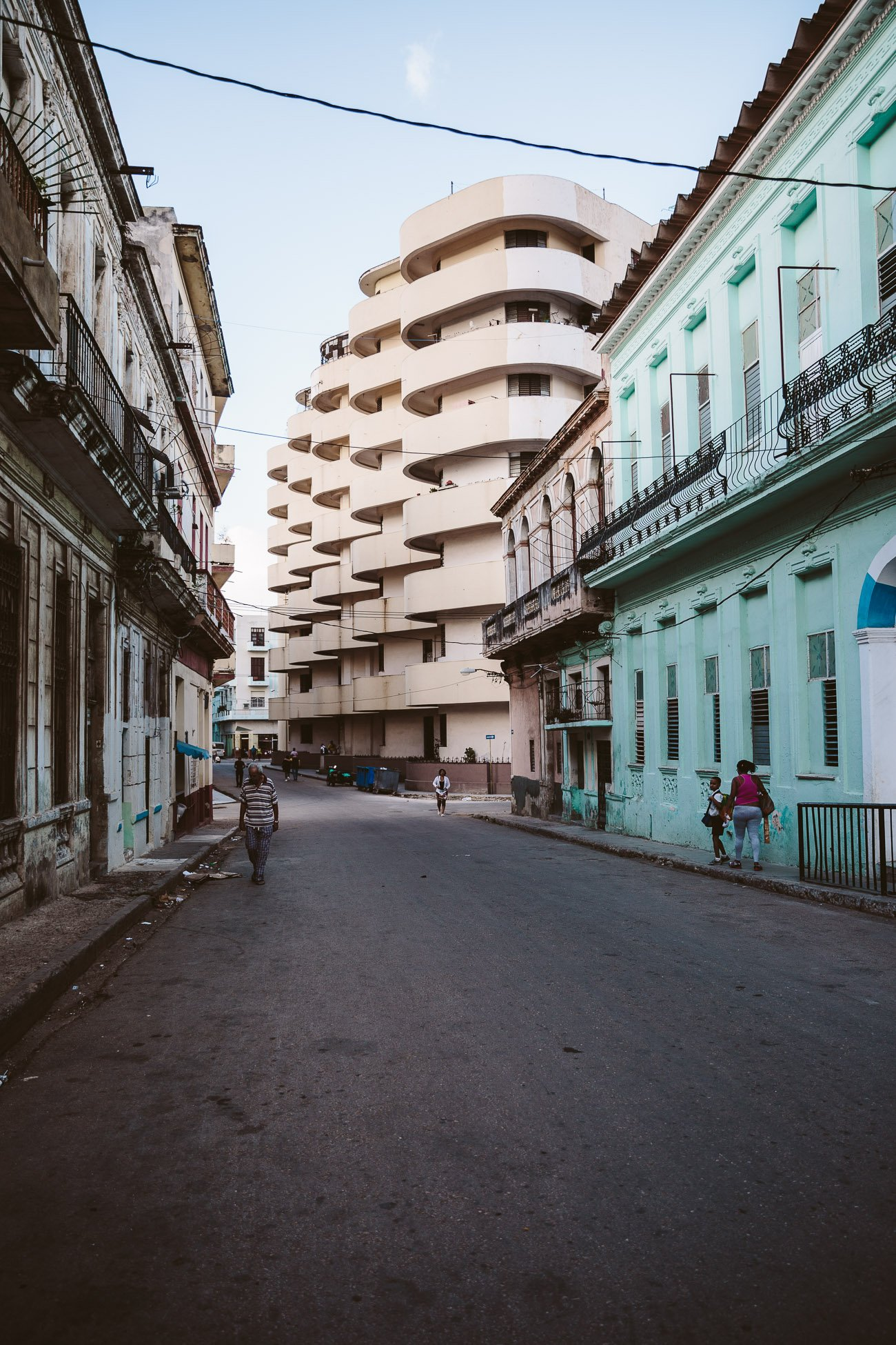 Architecture in Centro Habana district in Havana Cuba